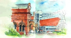 One Drawing at a Time: Salford and Manchester